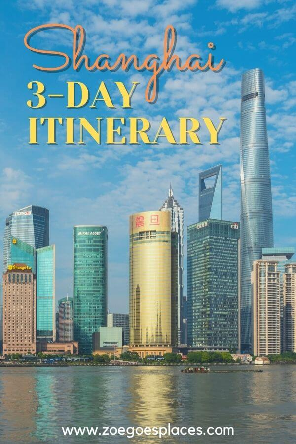 Shanghai 3-day itinerary! All you need to know for the perfect 3-day Shanghai stopover.