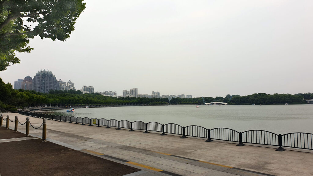 The lake at the centre of Century Park. Calm away from the hustle and bustle of the world's largest city - Shanghai!