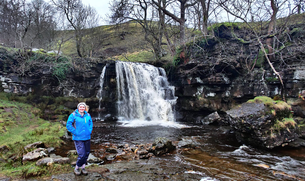 A beautiful Yorkshire Dales waterfall - the upper part of East Gill Force. The water drops from 4.5 metres into a small plunge pool