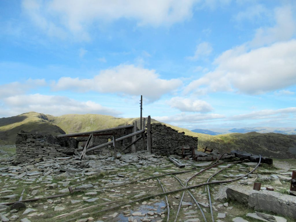 The old quarry on the descent from the Old Man of Coniston