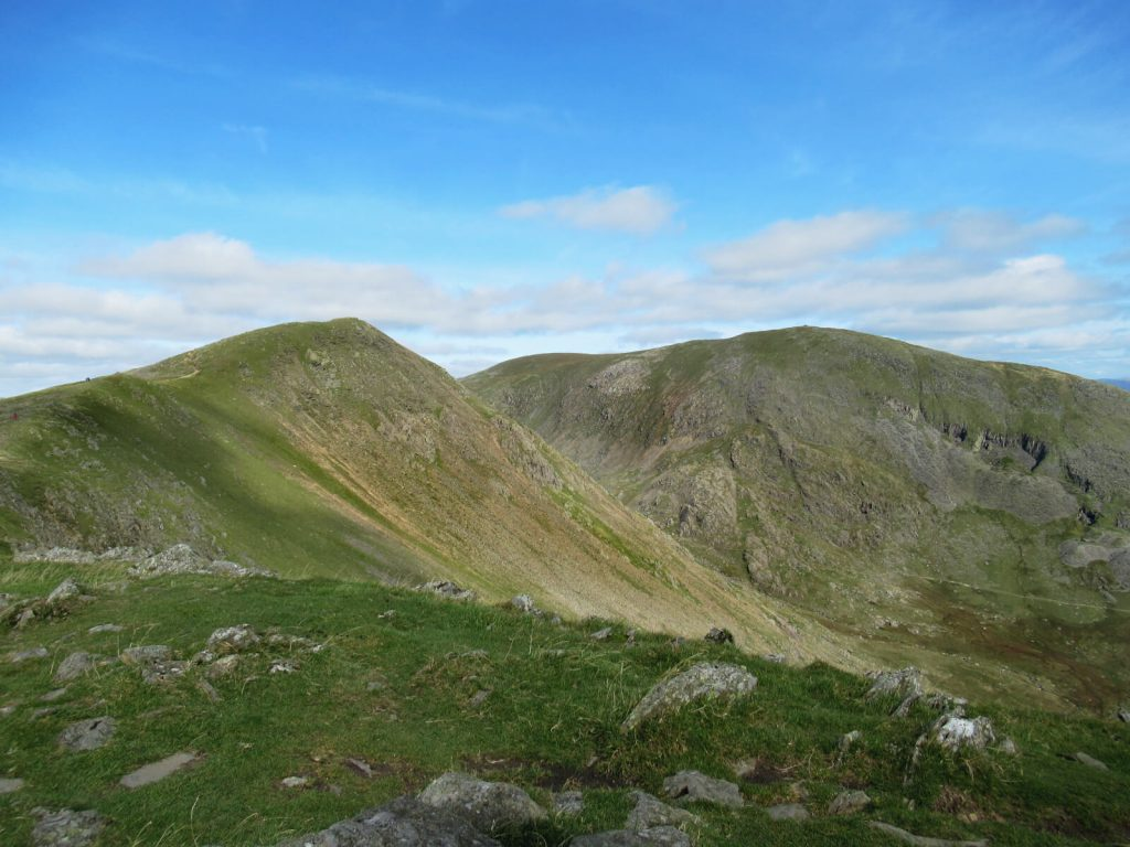 Dow Crag on the left and the summit of the Old Man of Coniston on the right