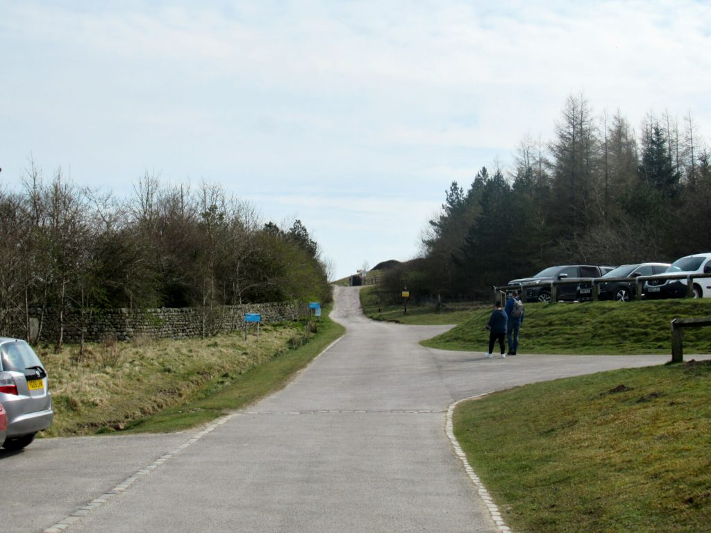 Head east out of the car park, up hill and continue on the path for most of the walk