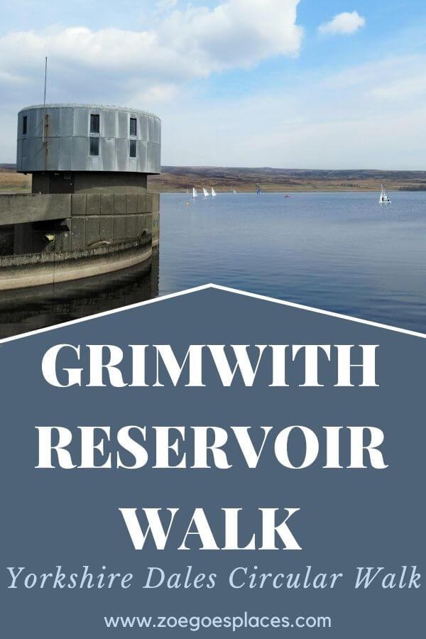 Grimwith Reservoir Walk Circular Route pinterest pin