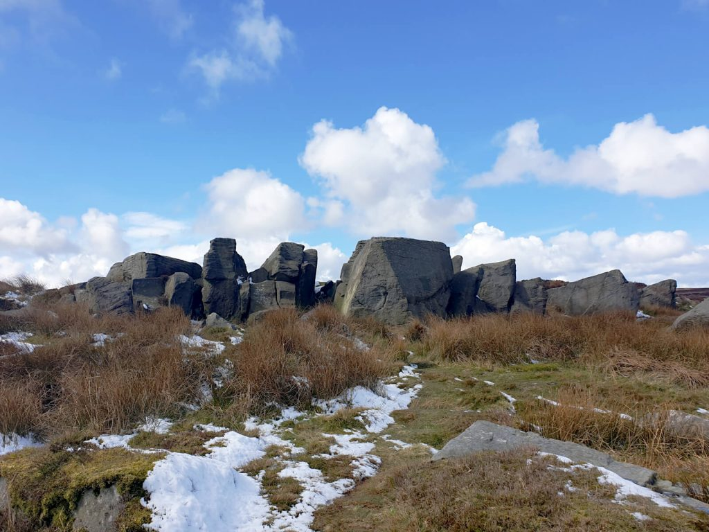 The Grub Stones on Ilkley Moor - a great place for a photo due to the uneven and protruding rocks. Plus, fantastic views are available from the top.