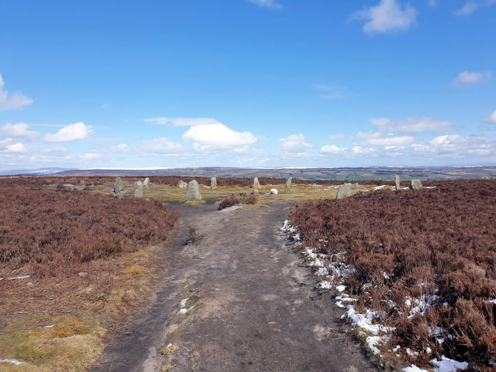 The famous Ilkley Moor Twelve Apostles stone circle. This is a great place to walk to!
