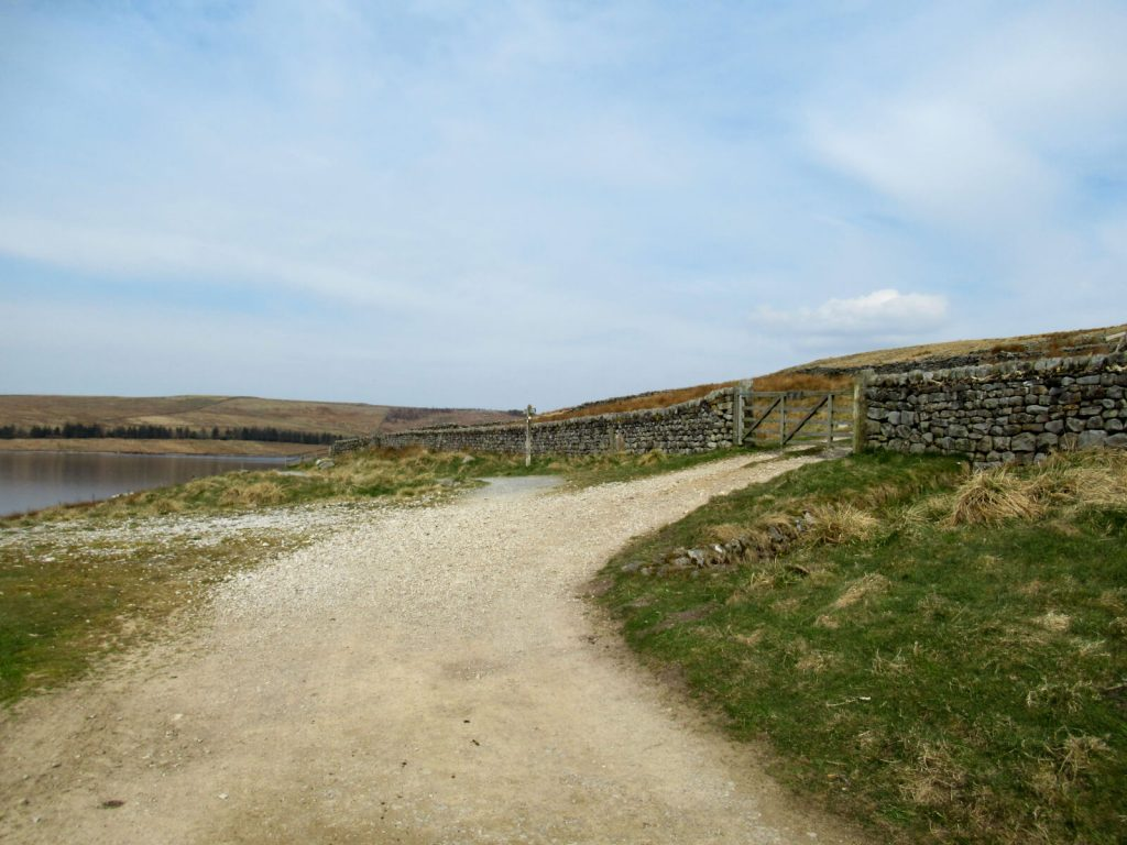 On the northern side of the reservoir, the path splits (although later rejoins)
