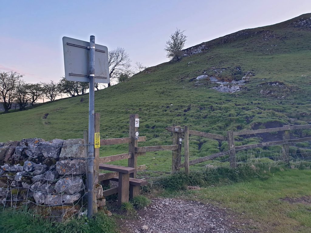 The start of the path that leads to the top of Chrome Hill!