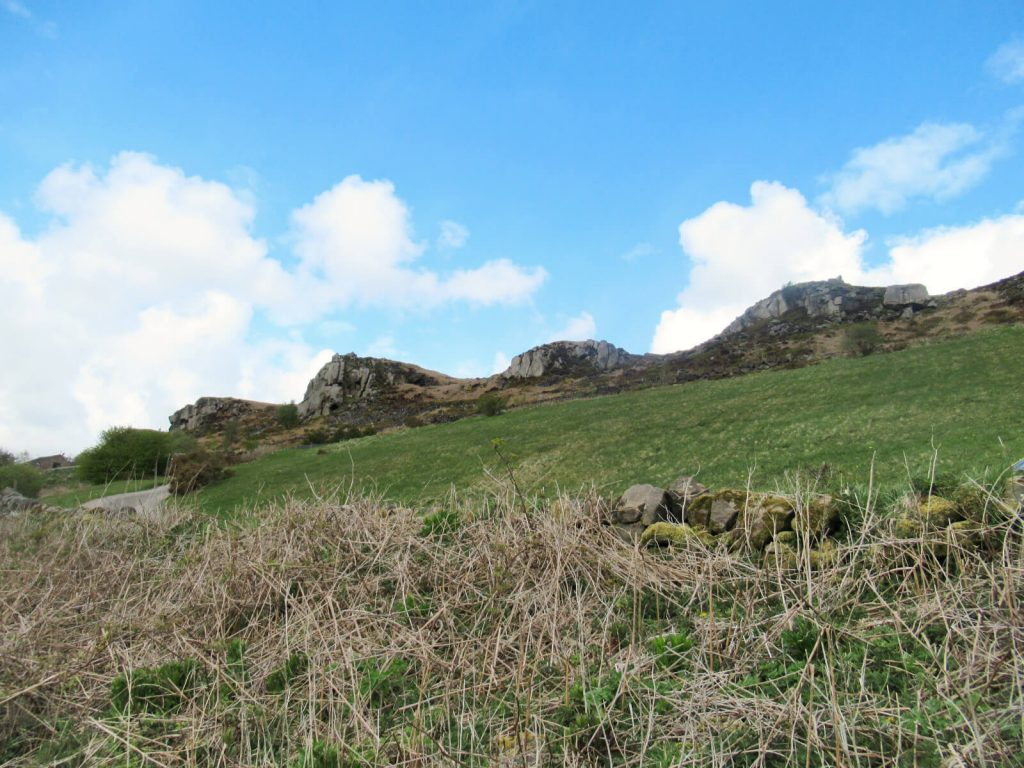 Looking up at The Roaches - this can be an additional walk after completing the Lud's Church Walk.