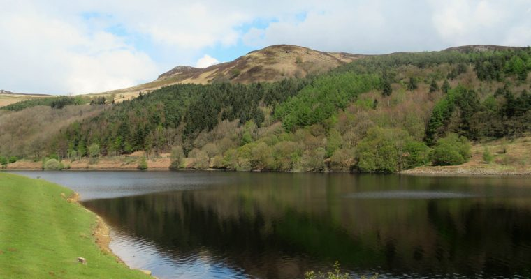 Overlooking Ladybower Reservoir from the walking route