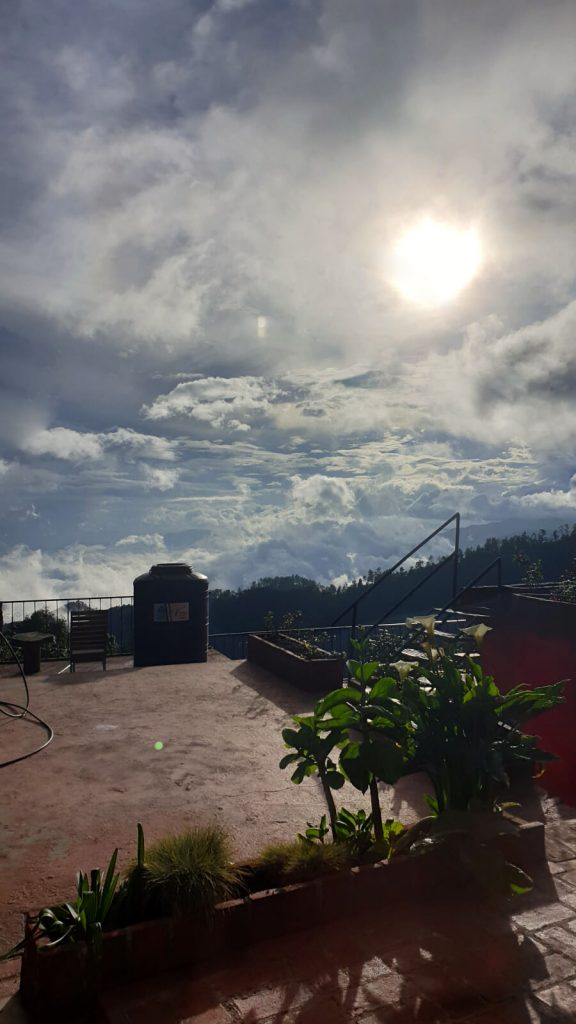 Afternoon sun captured from inside my room at La Cumbre, sometimes the clouds just feel alive
